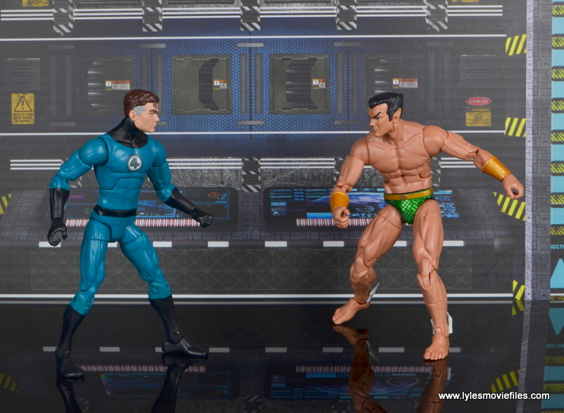 marvel legends mister fantastic figure review - battling namor