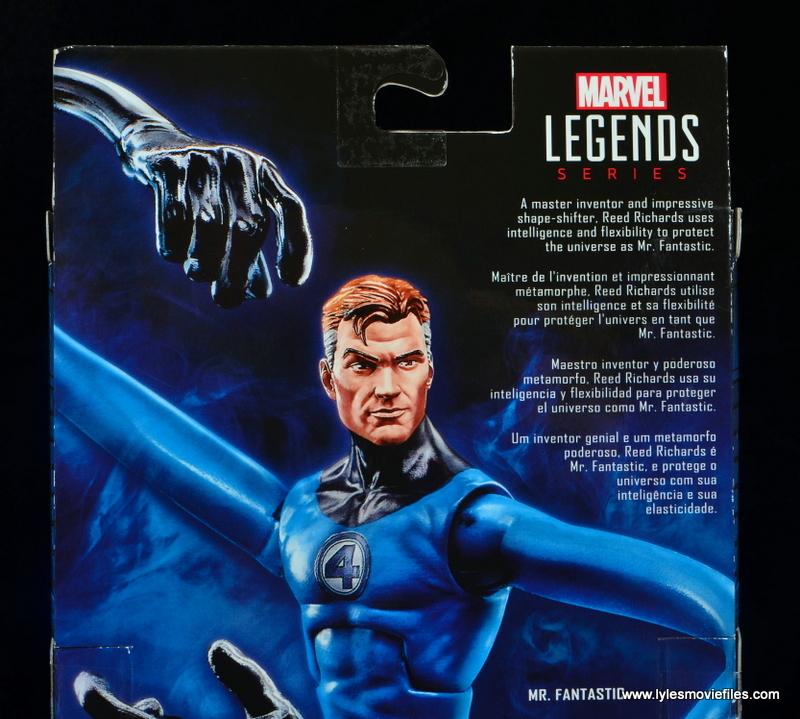 marvel legends mister fantastic figure review - package bio