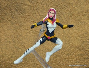 marvel legends songbird figure review - in the air