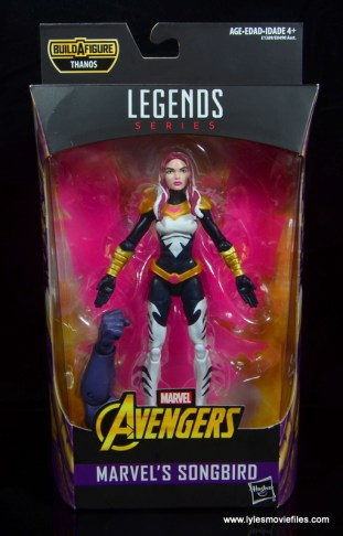 marvel legends songbird figure review - package front