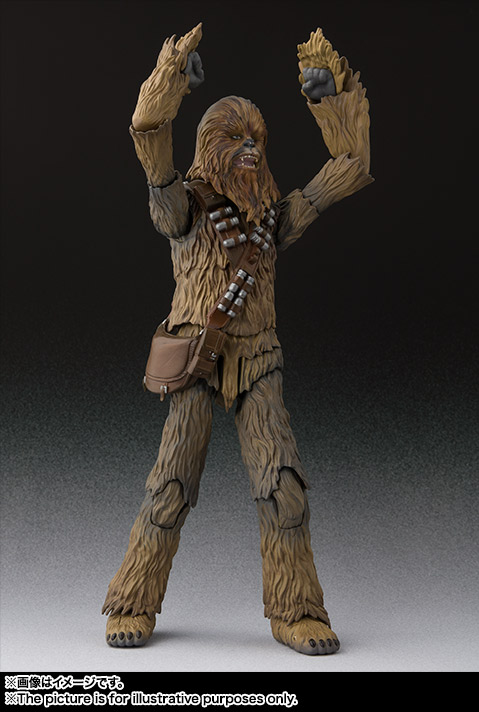 sh figuarts solo chewbacca figure -arms up