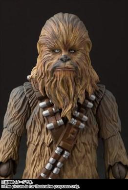 sh figuarts solo chewbacca figure -goggles off
