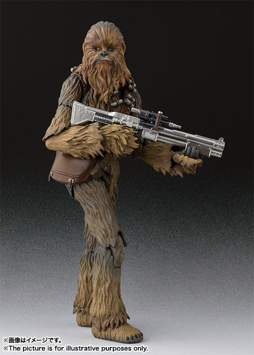 sh figuarts solo chewbacca figure -holding gun