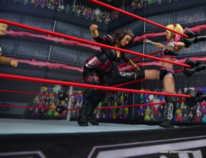 wwe elite 53 alexa bliss figure review -kicking nia jax in corner