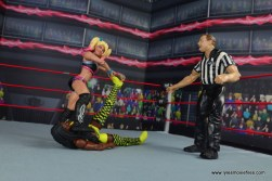 wwe elite 53 alexa bliss figure review - stomping on naomi