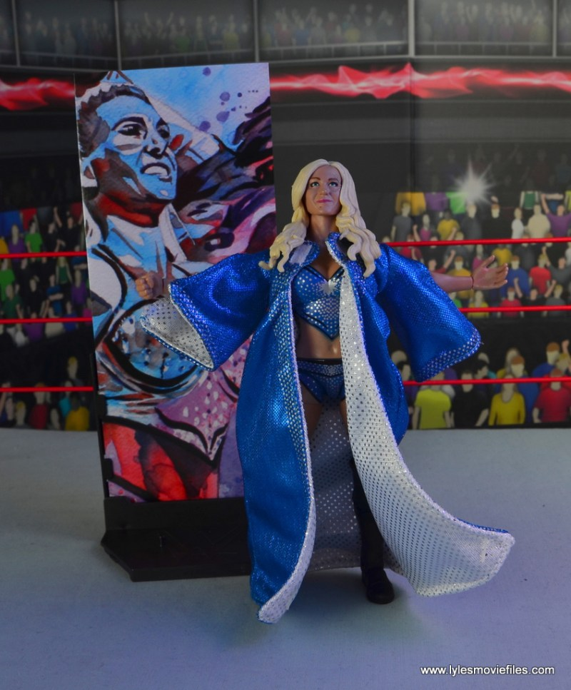 wwe elite 54 charlotte flair figure review - with art piece