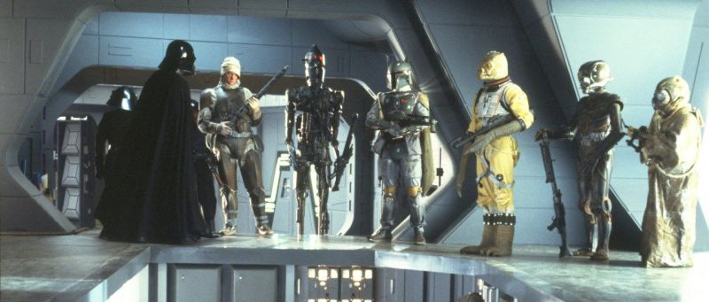 empire strikes back darth vader and the bounty hunters