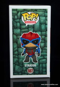 funko pop! stratos figure review -package right side