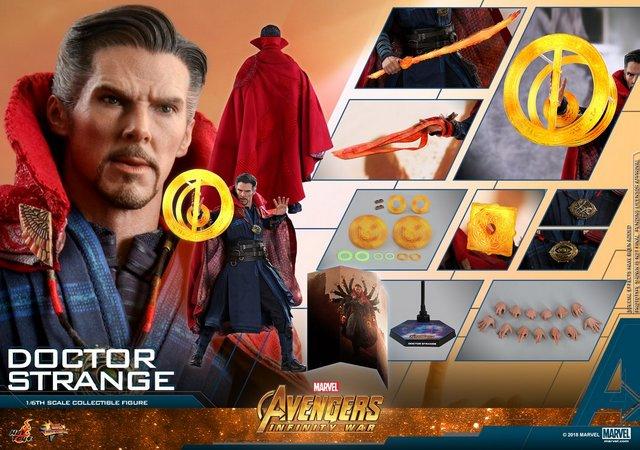 hot toys avengers infinity war doctor strange figure -collage