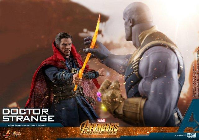 hot toys avengers infinity war doctor strange figure - vs thanos