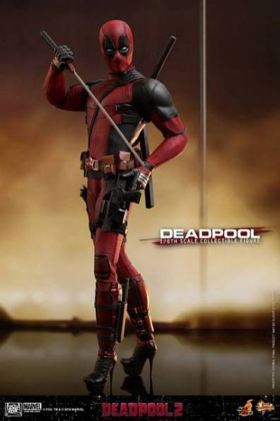 hot toys deadpool 2 figure -with heels