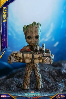 hot toys guardians of the gamora vol. 2 gamora figure - groot with explosive