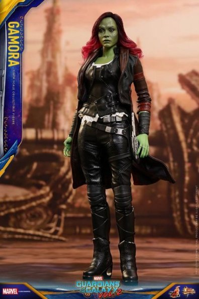 hot toys guardians of the gamora vol. 2 gamora figure - outfit detail