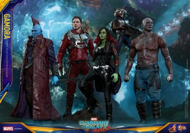 hot toys guardians of the gamora vol. 2 gamora figure -with guardians