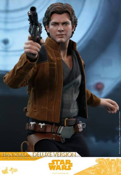 hot toys solo a star wars story han solo figure -straight angle