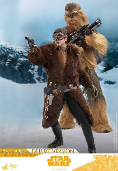 hot toys solo a star wars story han solo figure -with chewbacca in the snow