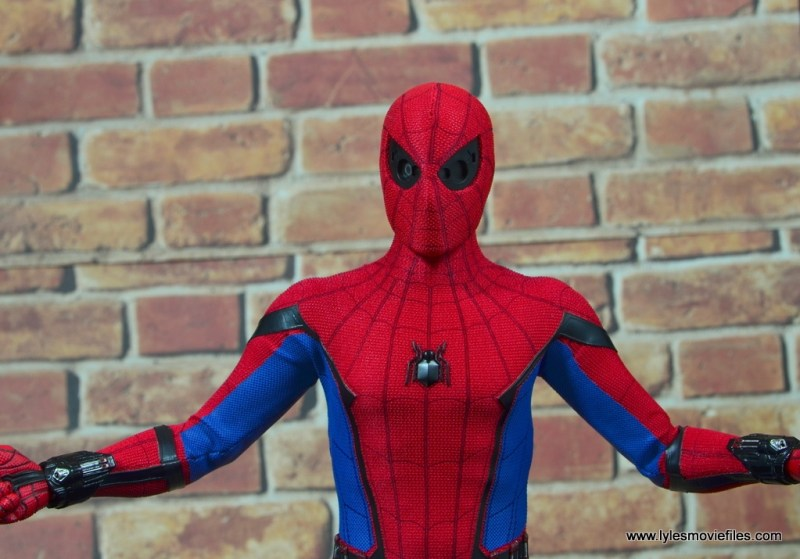 hot toys spider-man homecoming figure review - no eye masks