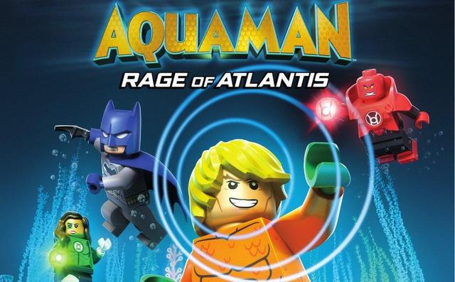 lego dc super heroes aquaman - rage of atlantis blu ray cover