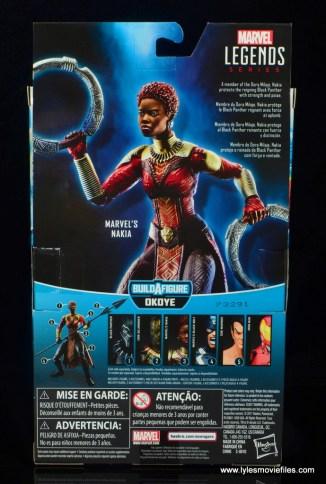 marvel legends nakia figure review - package rear