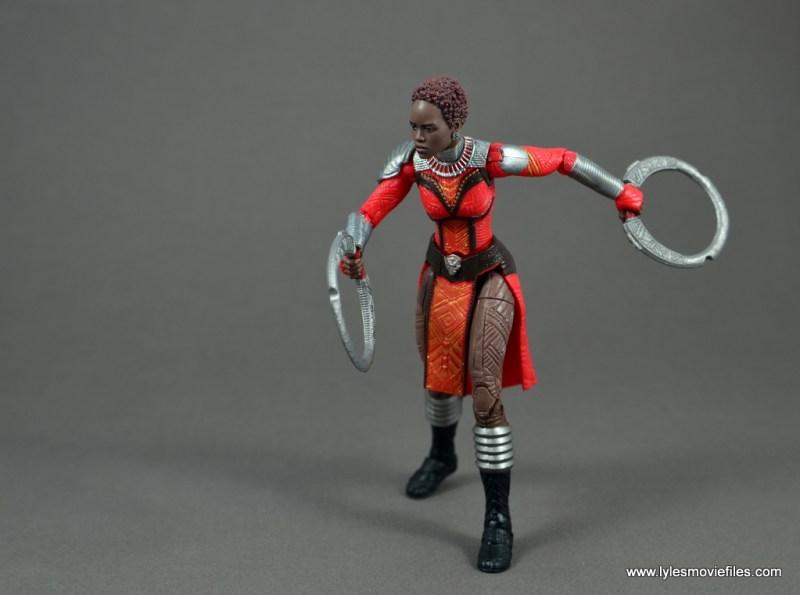 marvel legends nakia figure review - running