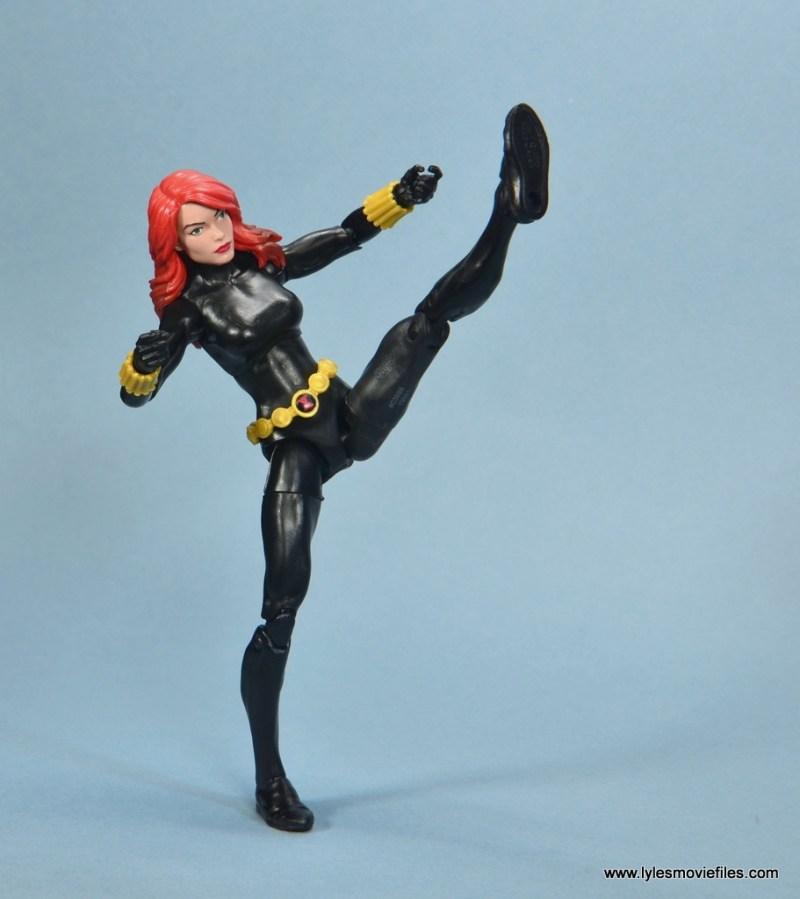 marvel legends retro black widow - high kick