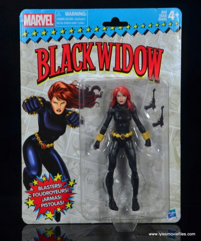 marvel legends retro black widow - package front