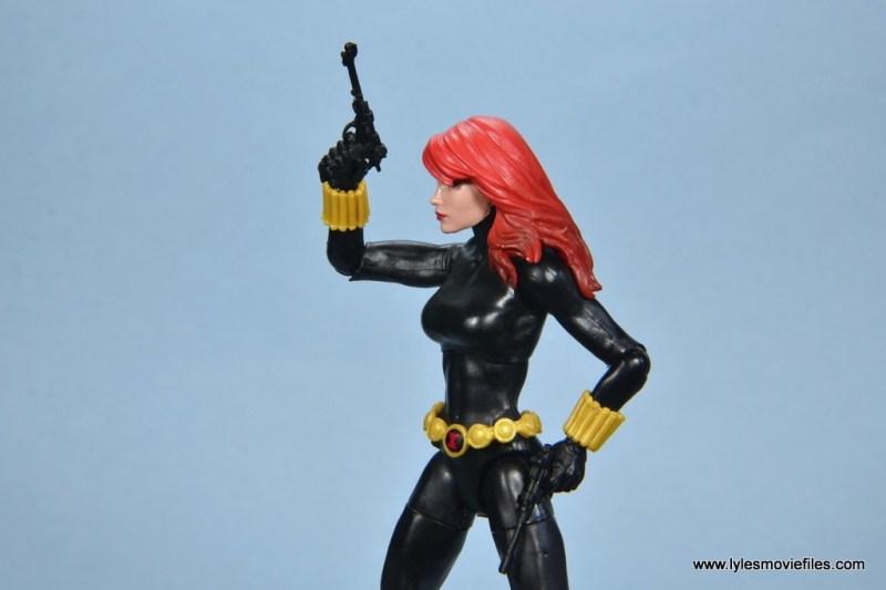 marvel legends retro black widow - pistol up