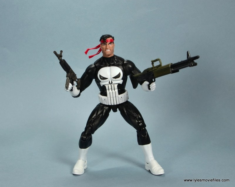 marvel legends the punisher retro figure review - bandana with guns