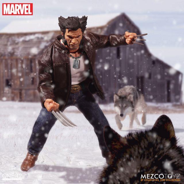 mezco toyz one collective logan figure -vs wolves