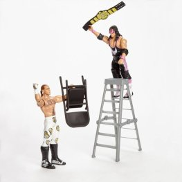 wwe hall of champions two pack bret hart vs shawn michaels ladder