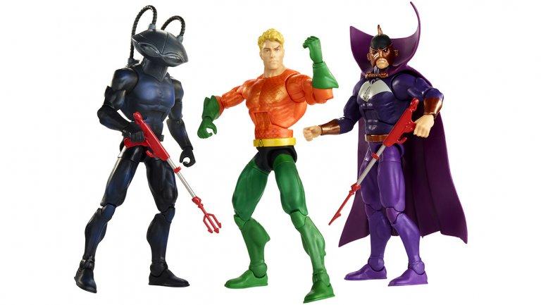dc multiverse aquaman two dooms - black manta, aquaman and ocean master