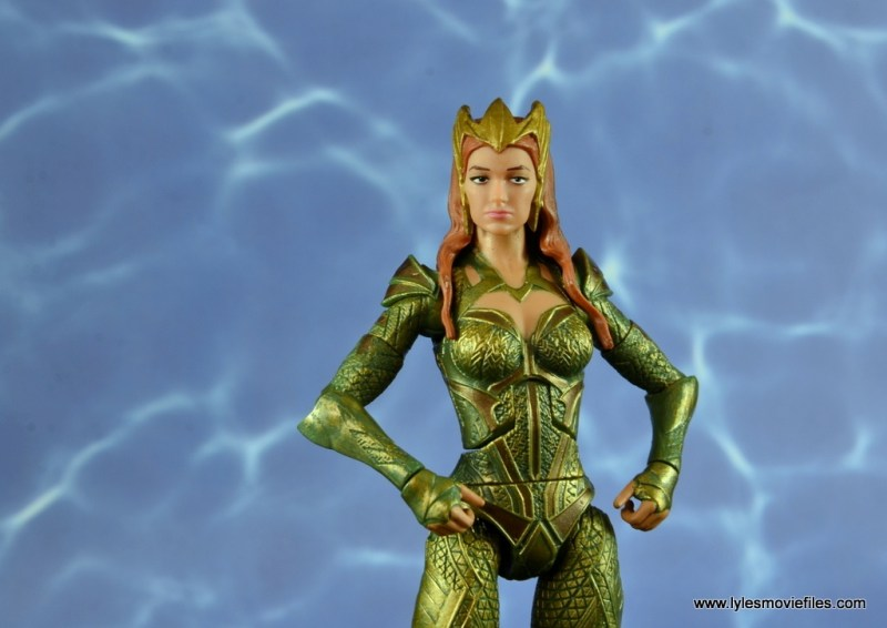 dc multiverse mera figure review - hands on hips