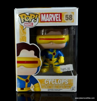 funko pop cyclops figure review - package front