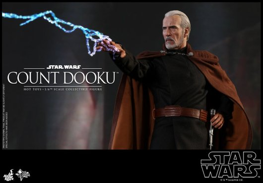 hot toys attack of the clones count dooku figure -lightning blast