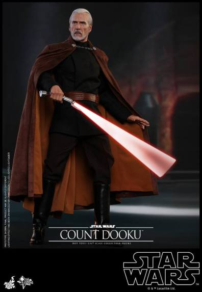 hot toys attack of the clones count dooku figure -lightsaber blur