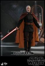 hot toys attack of the clones count dooku figure -preparing for a duel