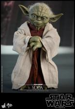 hot toys attack of the clones yoda figure -front shot