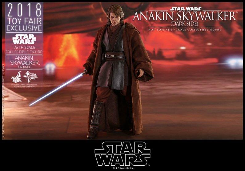 hot toys dark side anakin skywalker figure -advancing
