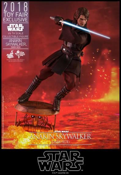 hot toys dark side anakin skywalker figure -attacking on platform