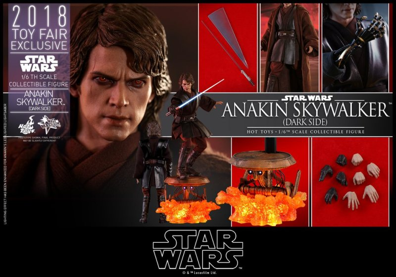 hot toys dark side anakin skywalker figure -collage