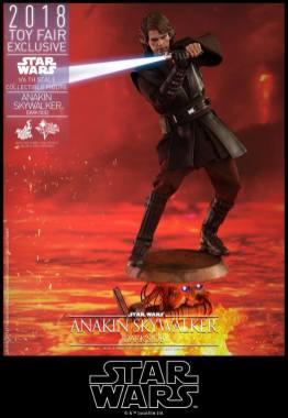hot toys dark side anakin skywalker figure -swinging lightsaber