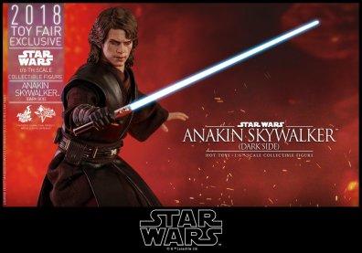 hot toys dark side anakin skywalker figure -wide with lightsaber