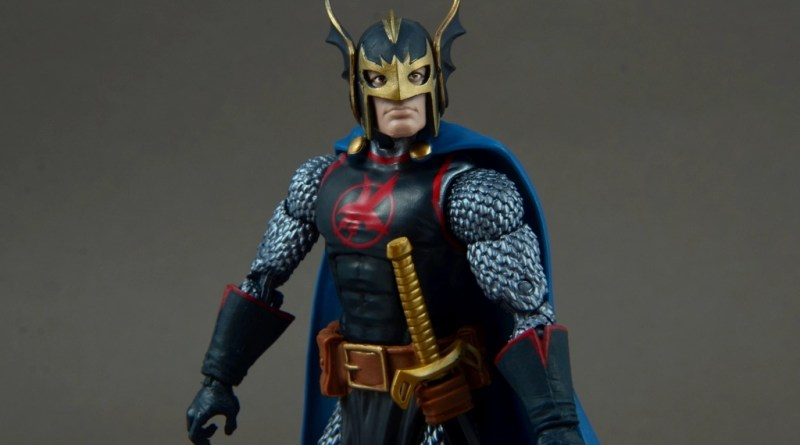 marvel legends black knight figure review -package bio