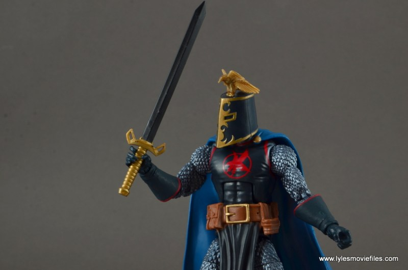 marvel legends black knight figure review -wide shot