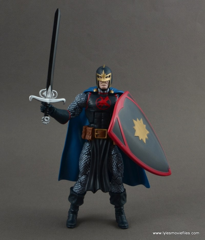 marvel legends black knight figure review -with avalon sword and shield