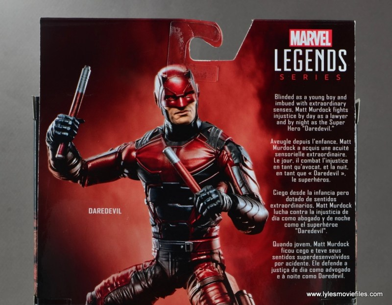 marvel legends netflix daredevil figure review -package bio