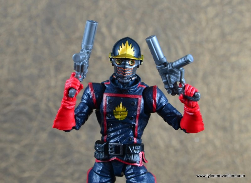 marvel legends the thanos imperative sdcc set review - star-lord with both blasters up