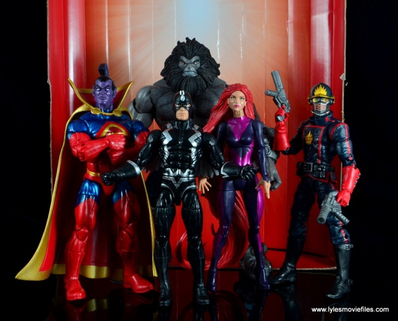 marvel legends the thanos imperative sdcc set review - wide shot