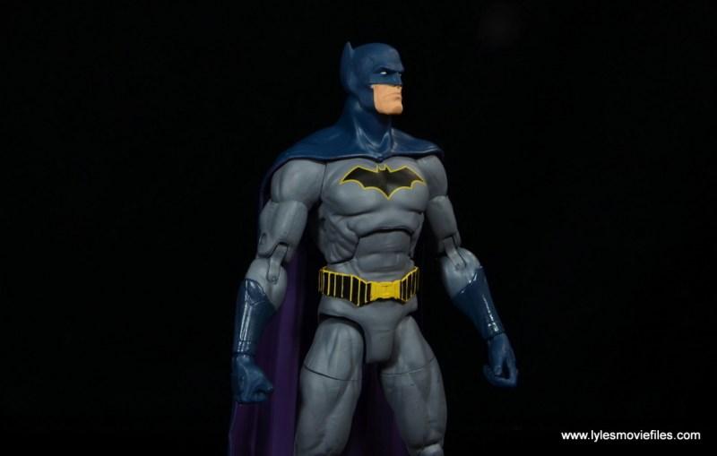 dc essentials batman figure review -looking up