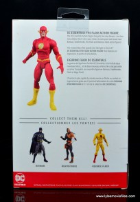 dc essentials the flash figure review - package rear